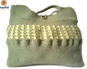 Pale Green Crochet Bag