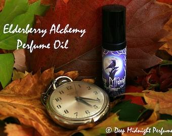 Elderberry Alchemy Perfume Oil: Walking Dead inspired perfume, elderberries, twigs and leaves, patchouli, wood.