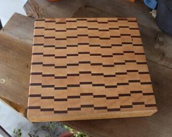Butcher Block, Cutting Board, Butcher Block Cutting Board, End Grain Block, Chopping Block, Handmade, Wedding Gift, Wooden Cutting Board