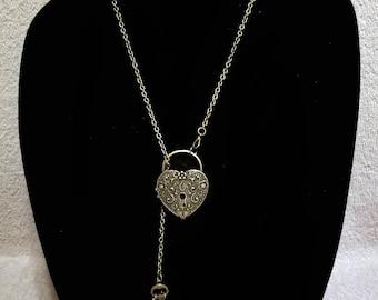 Heart Lock & Key Locket