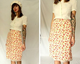Vintage Laura Ashley Floral Skirt - Size M