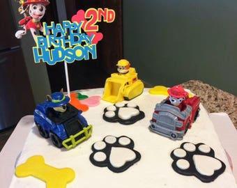 Paw Patrol Cake Topper,Paw Patrol Birthday Banner,Paw Patrol Birthday Cake Topper,Personalized Cake Topper, Paw Patrol Decorationsii