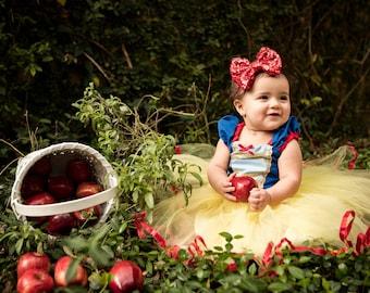 SNOW WHITE costume, Snow White dress, princess dress,  girls princess  costume dress TUTU dress style princess costume