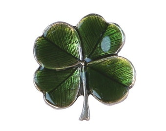 Danforth Four Leaf Clover Shamrock 3/4 inch ( 20 mm ) Pewter Shank Button