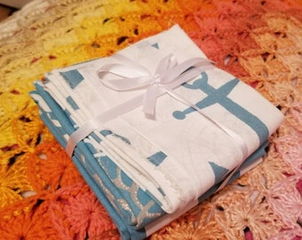 Anchor, coral, and Stripe fabric set