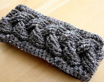 Crochet Earwarmer, Womens earwarmer, Womens headwrap, Braided Headband, Womens Braided Earwarmer, Adult Earwarmer, Womens Headwrap