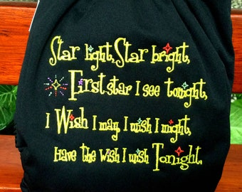 Star Light Star Bright First Star I see tonight One Size All-In-One AIO Cloth Diaper Nappy
