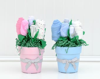 baby shower centerpiece boy girl twins baby shower blue pink