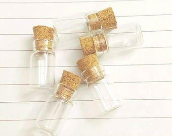 Set of 5 vials 17 x 10 mm