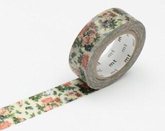 Flower Botanical Art Washi Tape • MT Masking Tape • MT ex Washi Tape • Vintage Floral • Washi Tape UK • Japanese Stationery • Botanical Art