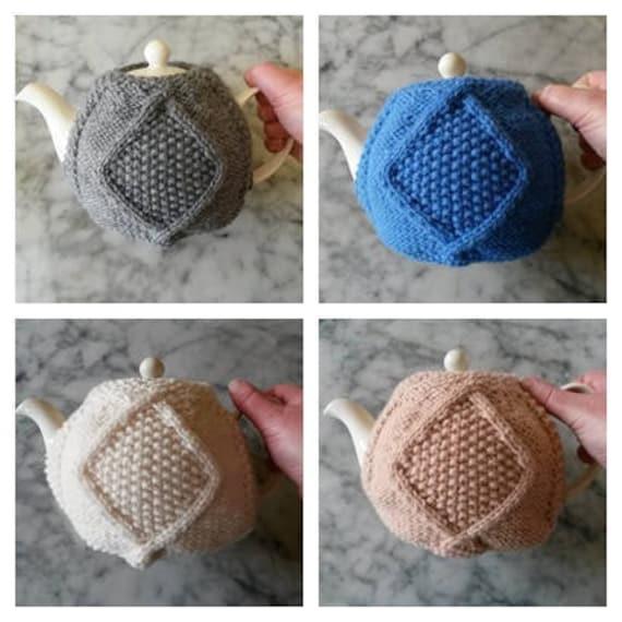 Knitting Pattern: Aran Teacozy. Instant PDF download. Aran Teacosy. Original design. Digital download. Teapot cover. Teacozy knit pattern.