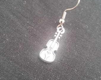 Violin Earring, Mens Musical Instrument Jewelry, Mens Violin Earring, Mens Jewelry, Mens Earring