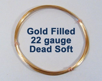 Gold Filled Wire - 22ga DS Dead Soft - Choose Your Length