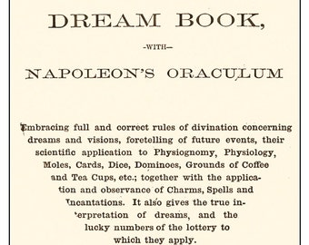 Mother Shipton's Gipsy Fortune Teller Dream Book with Napoleon's Oraculum