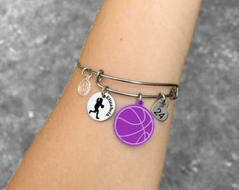 Basketball Gifts, Basketball Bracelet, Basketball Player Gifts, Basketball Players Bracelet, Basketball Jewelry, Gift for Basketball Player