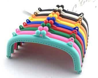 Cute Resin Adhesive Kisslock Frame For Bag Purse, Classic color, 15cm / 6 inch, 20cm / 8 inch 1 PCS,D085