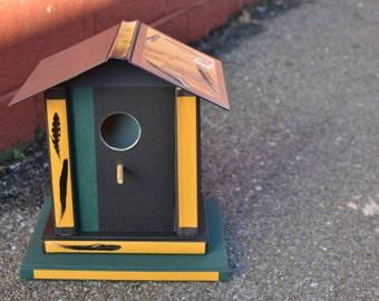 Birdhouse made from books birdhouses handmade goldfinch gift bird house birdhouse decor birdhouses for sale bird art bird lover gift audubon