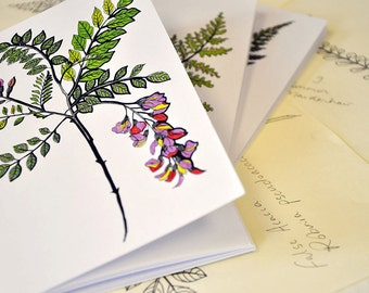 Set of 3 A6 notebooks: Botanics