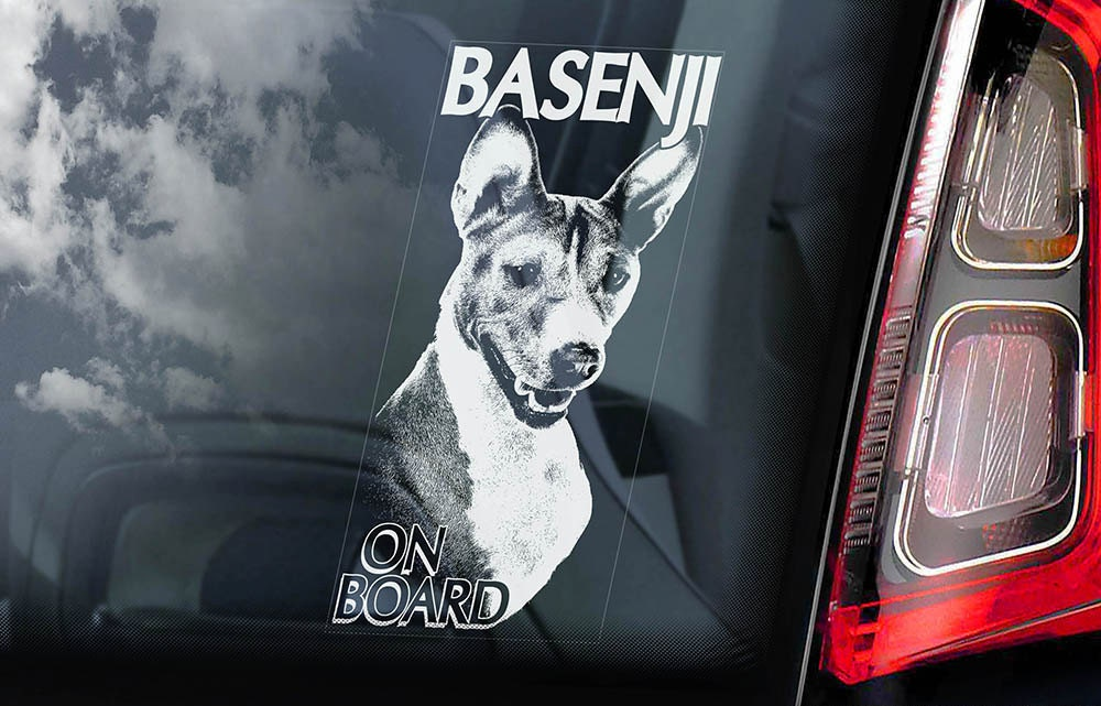 Basenji on Board - Car Window Sticker - Ango Angari