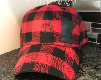 Minnesota Buffalo Plaid Flannel Baseball Hat   Minnesota Hat   Buffalo Plaid Hat   Buffalo Plaid   Flannel Hat