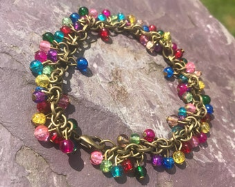 """Carnival A gorgeous 7.5"""" colourful cluster bracelet All the fun of the fair!!"""