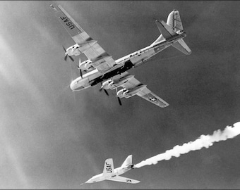 Poster, Many Sizes Available; Bell Aircraft Company X-2 & Boeing B-50 Superfortress 1955
