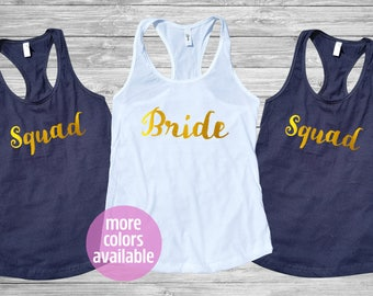 Bride Squad Tank Top - Bride Squad Shirt, Bachelorette Party Shirts, Bride Squad, Bachelorette Party shirts, Bride Tank Top