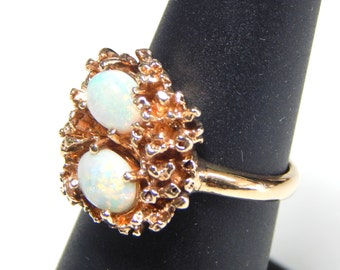 10k Opal Robin's Nest Ring