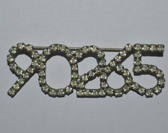 Vintage Dorothy Bauer 90265 Lapel Brooch Malibu's Zip Code Designer Jewelry Rare Very Hard To Find