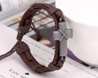 Cross Brown Bracelet Belt