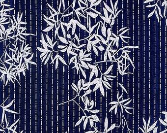JAPANESE INDIGO KATAGAMI Fabric: Bamboo (1/2 Yd Increments)