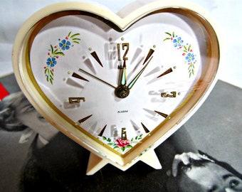 Alarm Clock, Travel Wind-up Alarm Clock, West German Fifties Alarm Clock