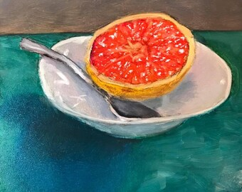 Grapefruit Oil Painting