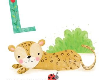 Leopard - Square print