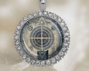 ZODIAC PENDANT. Alchemy Necklace Medal. Zodiac Mystic Necklace Alchemy Jewelry Historic. FREE Shipping