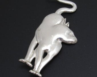 Vintage Cat Brooch Egyptian Style MFA Jewelry