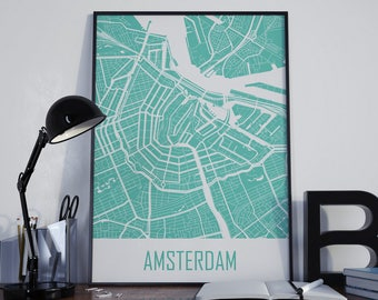 Amsterdam map Etsy