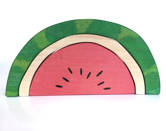 Watermelon Blocks Wood Toy Stacker