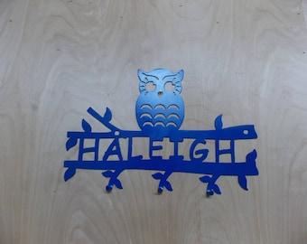 Custom Owl Coat Rack