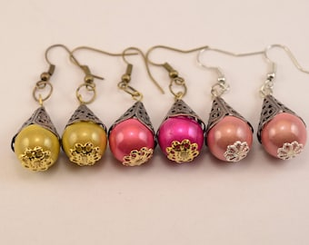 Multicolor Hat earrings