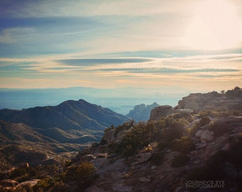 Landscape photography, Arizona art, Southwest decor, mountain landscape, nature photograph, Tucson - Mount Lemmon