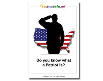 Do You Know What a Patriot Is? - Easy Social Story