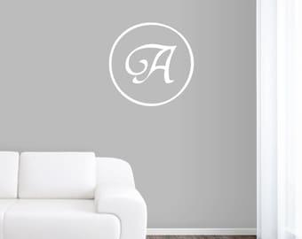 Traditional Monogram - Personalized Custom Monogram Wall Decals