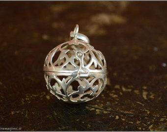 Wish Box perfume diffuser spell amulet locket pendant potion - silver