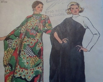 Vintage 1970's Simplicity 5971 Dress Sewing Pattern Size Large 16-18 Bust 38-40
