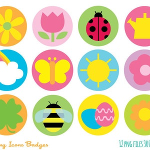 colorful spring art etsy