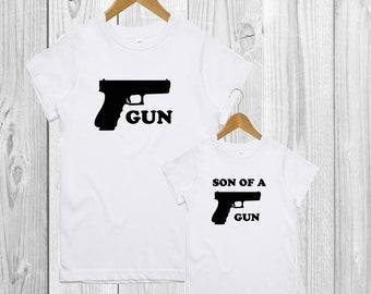 Daddy And Son Shirt Gun Son Of A Gun T Shirt Set Of 2