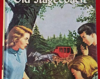 Vintage Nancy Drew Clue in the Old Stagecoach 1960s Yellow Cover