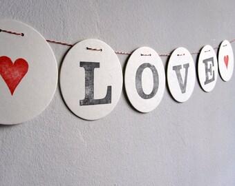 LOVE // bunting wedding handmade by renna deluxe