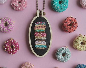 Embroidered Pendant Donuts